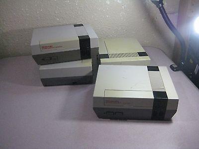 Lot of Four ORIGINAL Nintendo Entertainment System Console NES