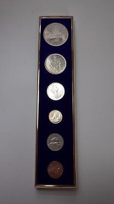 1966 Canada Set 4 Silver +2 Coins Uncirculated Velvet Box Silver Dollar Voyageur