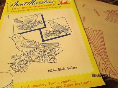 Birds Galore 3534 Aunt Martha's Hot Iron Embroidery Transfer