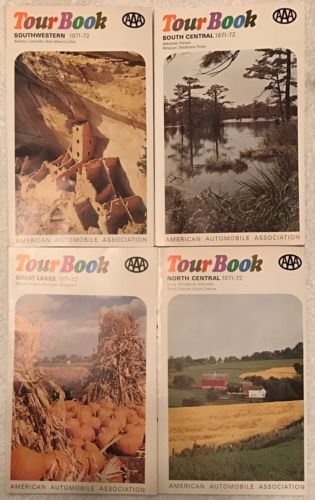AAA Tour Book for SOUTHWESTERN & NORTHWESTERN & SOUTH / NORTH CENTRAL 1971-72