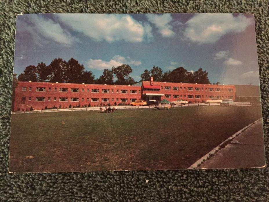 1956 Falls Akron Motel Junction Akron and Cuyahoga Falls Ohio OH Postcard ID#402