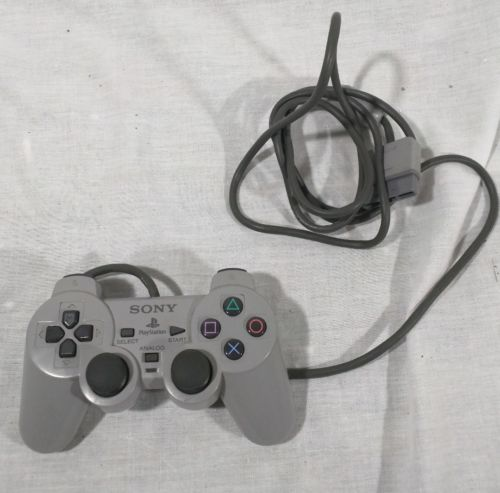 Sony Playstation 1 PS1 Controller Gray Genuine Analog Dual Shock SCPH-1200