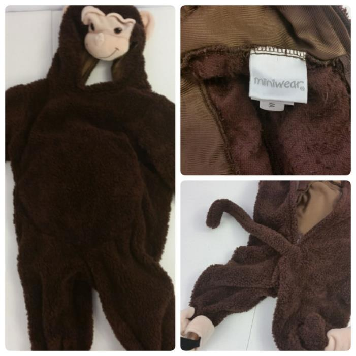 Children's Infant Monkey Costume Miniwear Size 12 Months