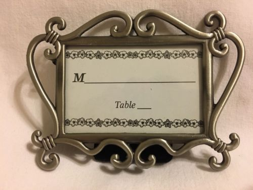 9 LOT! Photo Picture Frame Silver Swirl Scroll Pewter Place Card Table 3