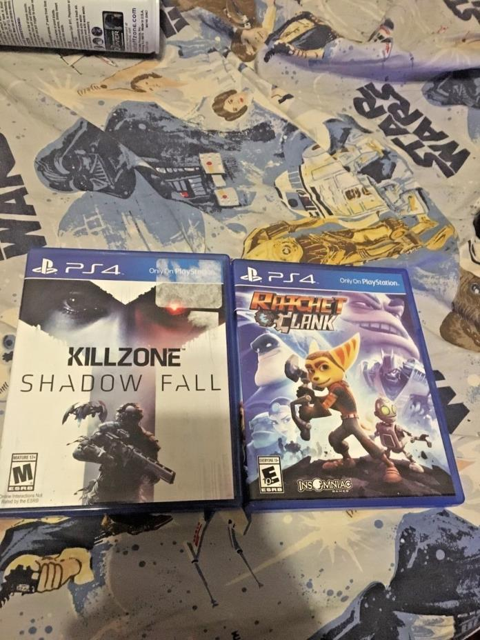 LOT OF 2 PLAYSTATION 4 (PS4) GAMES KILLZONE AND RACHET AND CLANK !!