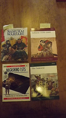 Samurai Osprey 5 books lot Warrior Warfare Nagashino Elite Oda Nobunaga Turnbull