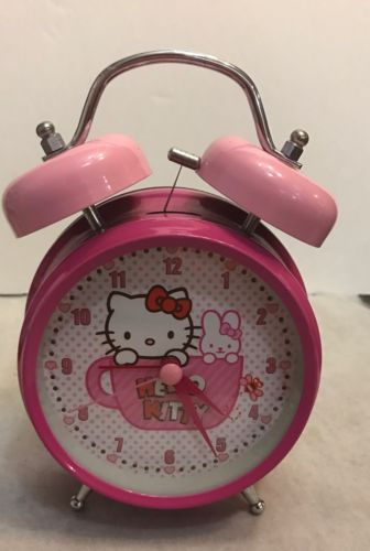 Sanrio Hello Kitty Pink Table Clock