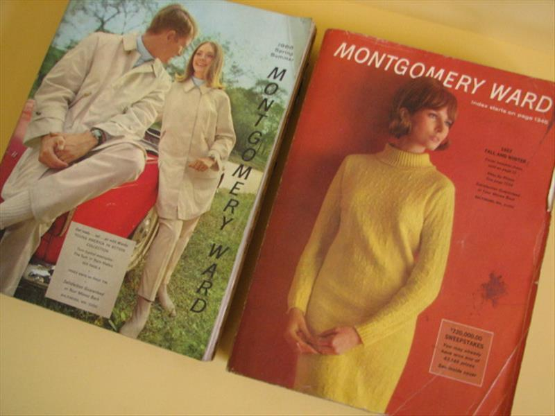 Lot of 2 -MONTGOMERY WARD CATALOGS--1966, 1967 Spring Summer Fall Winter fashion