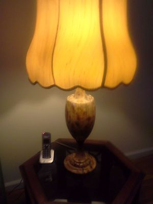 Vintage Marble Lamp with Shade