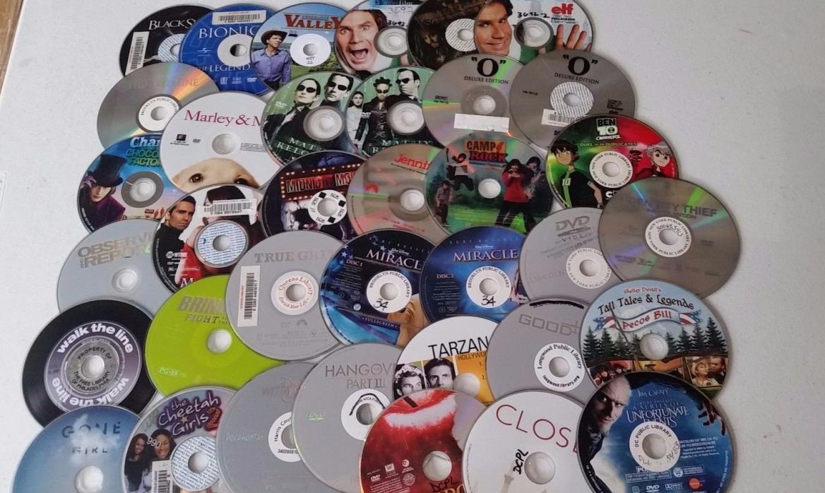 DVD/CD Lot of ~200 - Discs only - FREE SHIPPING - Salvage