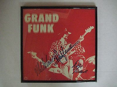Grand Funk Railroad LP Album Autographed x 3
