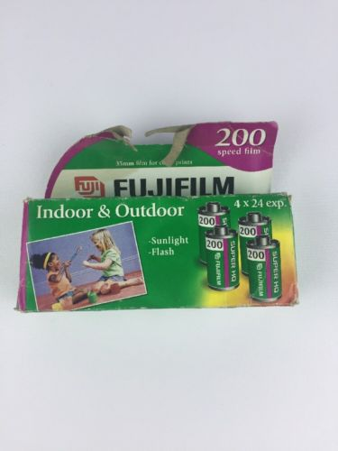 Fujifilm Super HQ 200 Speed 24 Exposure 35mm Film - 4 Pack EXPIRED