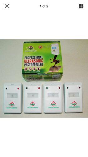 Cravegreens xtra professional ultrasonic pest control repeller set of 7 units