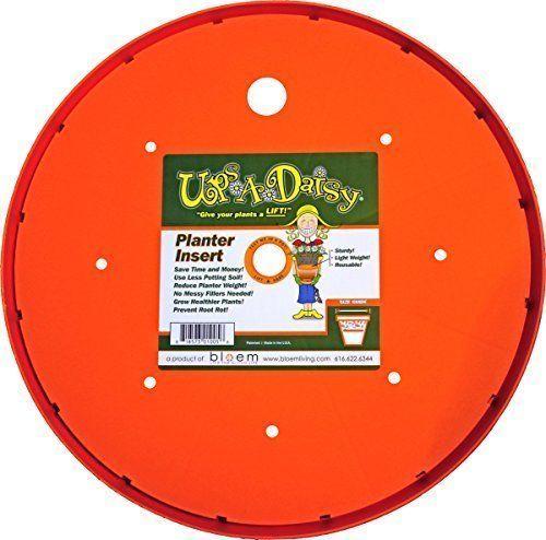 Bloem Living T6320 Up's a Daisy Planter Insert, 10-Inch, Orange 12-14
