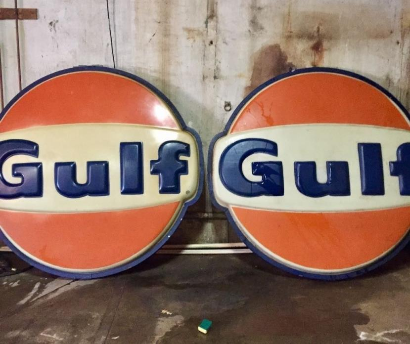 6 FT - GULF Sign - Gas & Oil