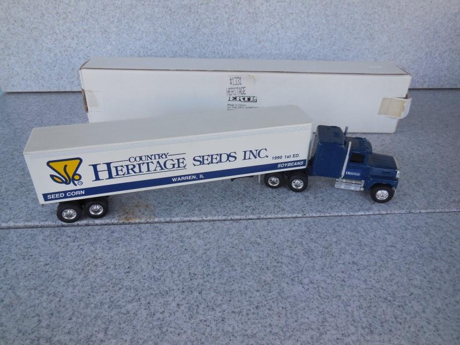 NEW OLD STOCK / ERTL 1/64 SCALE HERITAGE SEEDS SEMI TRACTOR TRAILER TRUCK / 1331