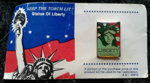 Keep the Torch Lit Fund Raising Pin on original card