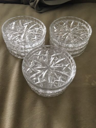 12 Vintage Clear Glass Cup Holders