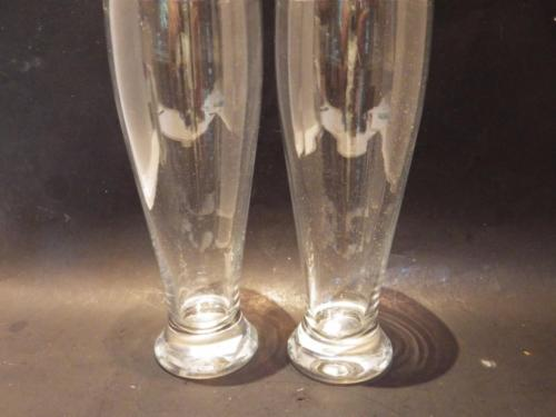 (2) Crate & Barrel Pilsner Beer Glasses 24 Ounce