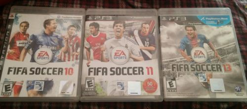 USED PlayStation 3 Video Game Lot FIFA 10, 11, & 13