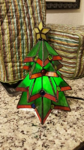 Elements Stained Glass Christmas Tree