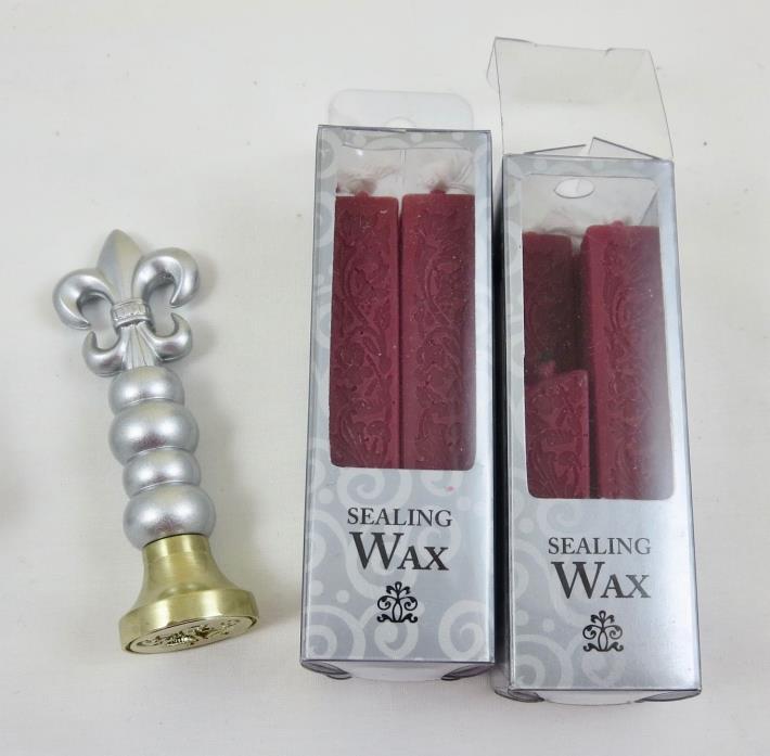 Gartner Studios Wedding Bells Wax Seal Stamper and 2 Boxes Burgundy Sealing Wax