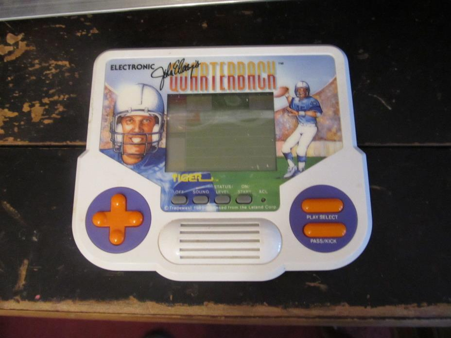 Electronic Hand Held John Elway's Quarterback game TESTED works great TIGER