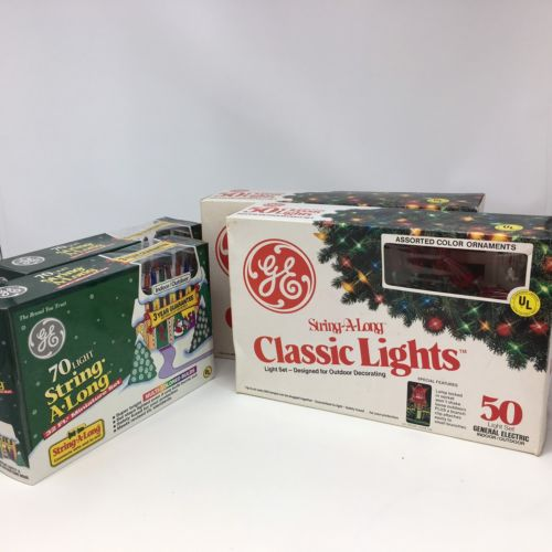Antique Vintage GE Christmas Holiday String Lights Multi-colored 4 NIB