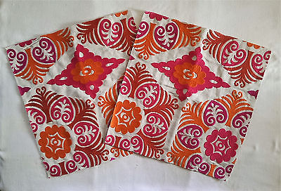 H6M EXOTIC & ETHNIC CHIC WOVEN EMBROIDERED FABRIC REMNANTS 16 1/2