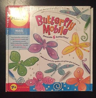 NEW Butterfly Mobile Activity Kit Decorate 6 Butterflies FACTORY SEALED