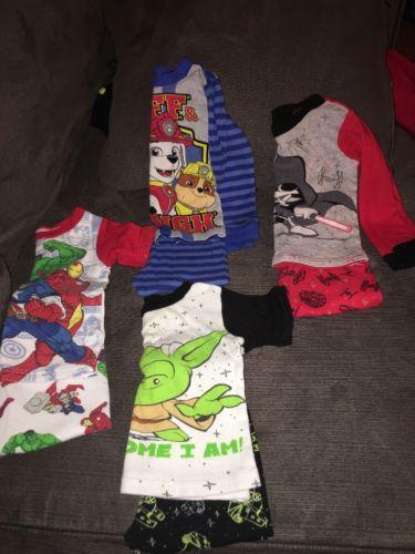 2T Boy Toddler Pajamas Set Of 4