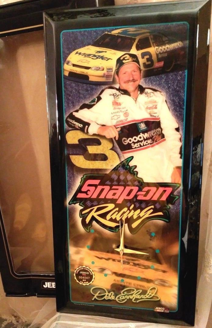MINT Jebco Clock Snap-On Ltd Edition Dale Earnhardt Clock Numbered COLLECTIBLE