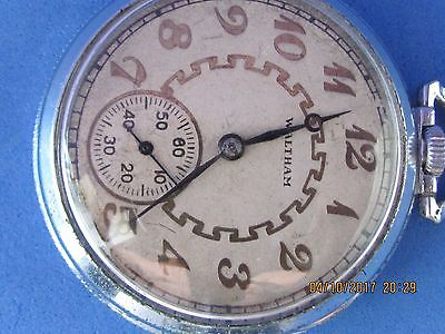 WALTHAM   MASS.    POCKET   WATCH   7   JEWELS