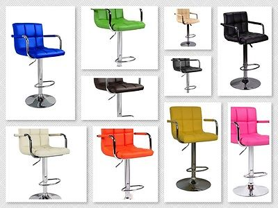 SINGLE BAR STOOLS LEATHER MODERN HYDRAULIC SWIVEL DINING CHAIR BARSTOOLS