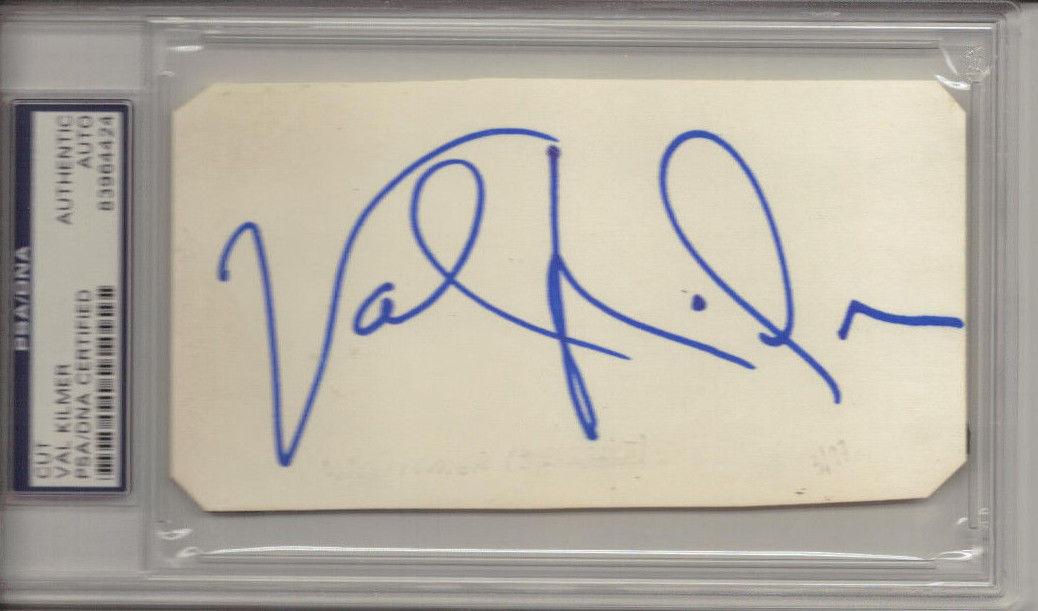 Val Kilmer Signed Index card