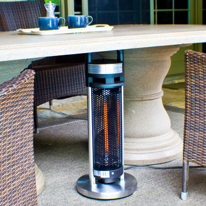 Portable Infrared Electric Standing Patio Heater Indoor and Outdoor Table Space
