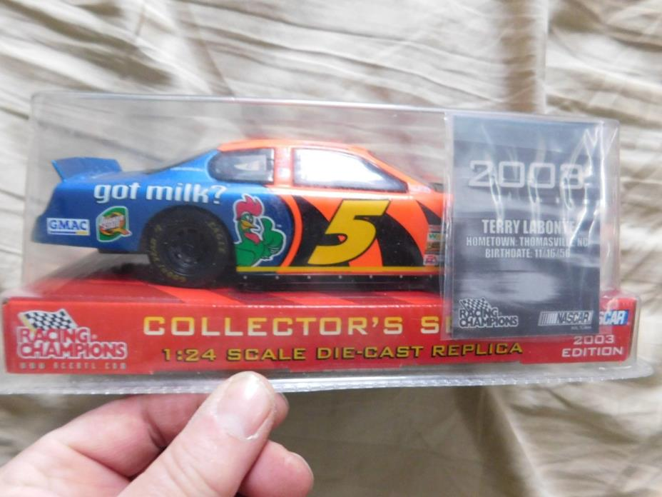 RACING CHAMPIONS TERRY LABONTE YOU GOT MILK 1:24 SCALE CAR NEW IN PACKAGE 2003