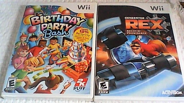 Lot of 2 Brand New Wii Games (Birthday Party Bash and Generator Rex)