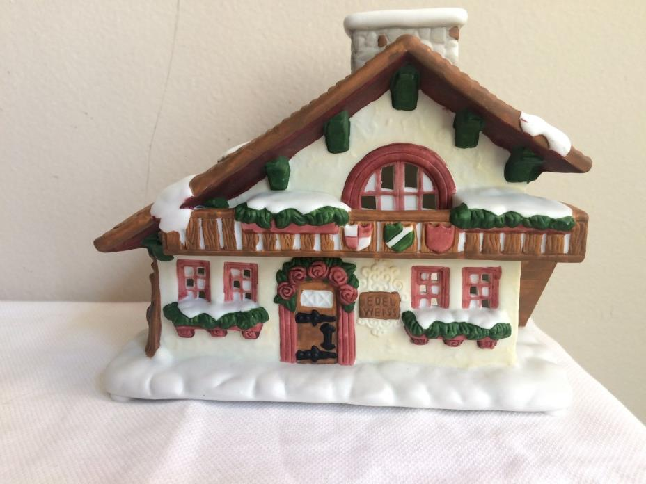 Partylite Edelweiss Tealight House ~ Cozy lodge ~Perfect 4 Winter,Rare,Mint,L/N!