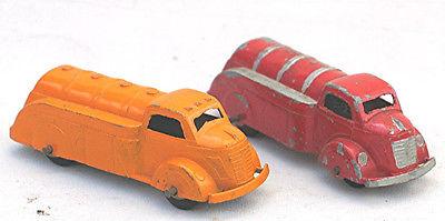 Two Die Cast Tootsie Toy; Oil Trucks