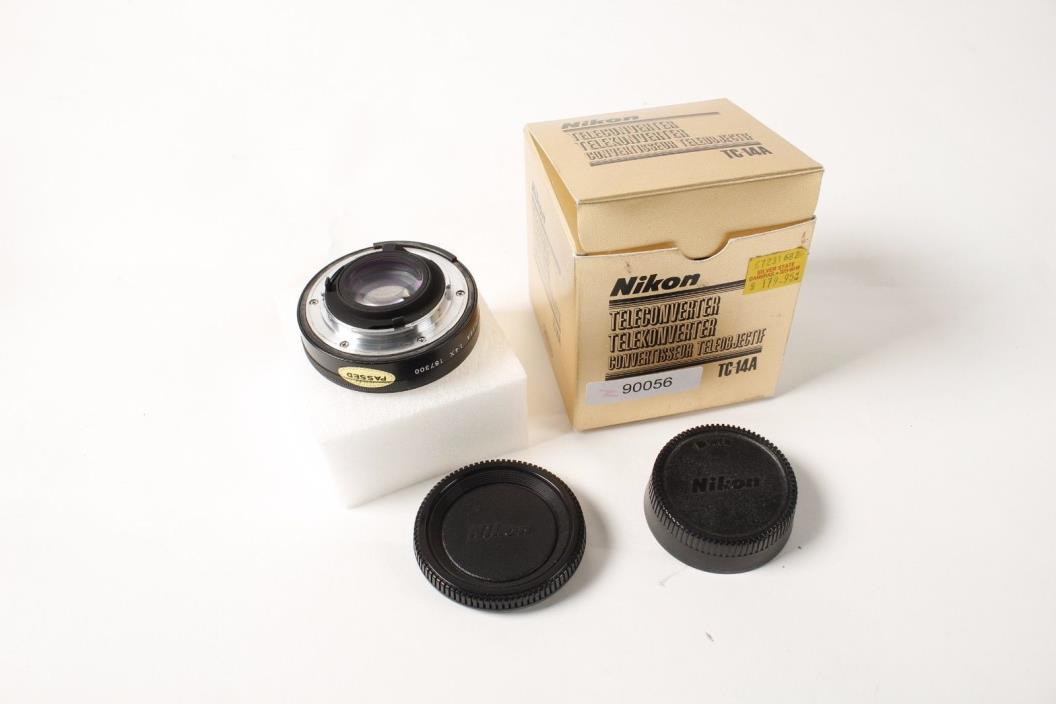 Nikon TC-14A 1.4x Teleconverter in original box with papers