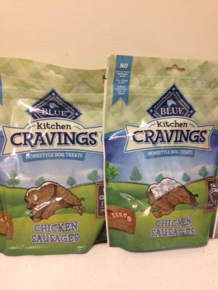 Blue Buffalo Kitchen Cravings Homestyle Chicken Sausages Dog Treat 2pack 6oz B21