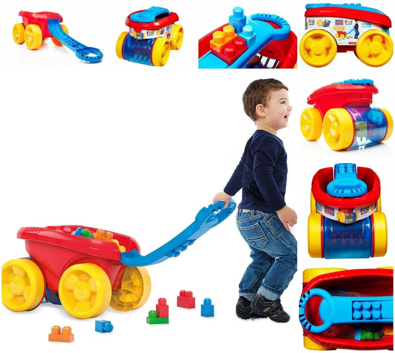Scooping Wagon First Mega Bloks Builders Building Block Classic Kids Toy Toddler