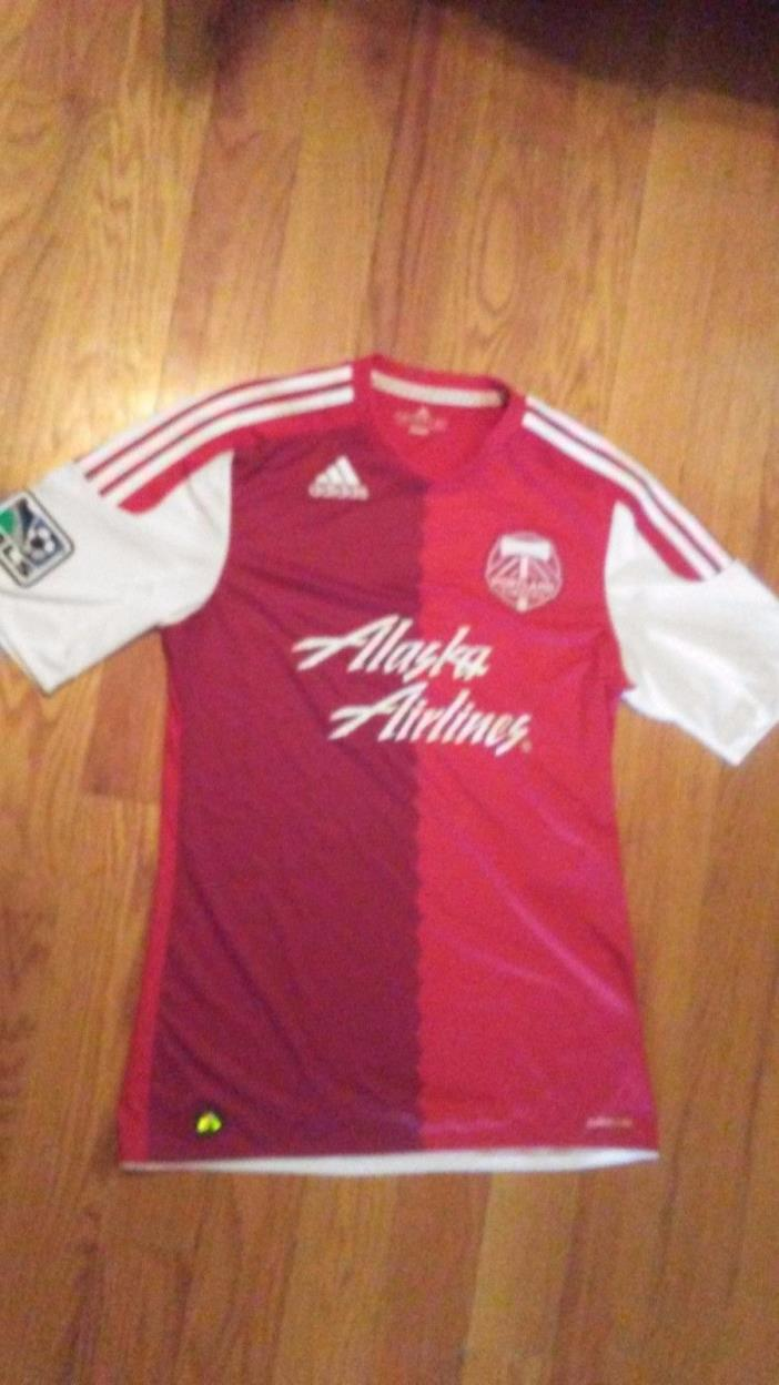 Adidas Climacool Portland Timbers 2011 MLS Soccer Red Away Jersey Men's medium