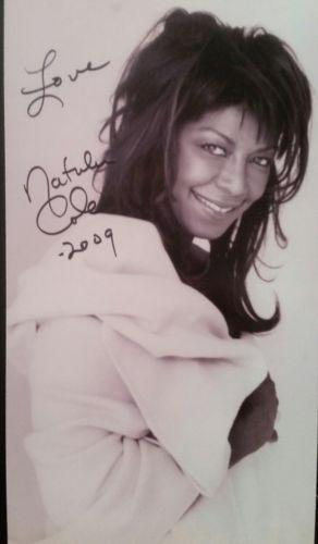 Natalie Cole autographed inperson 6