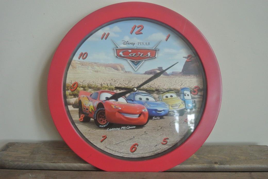 Disney Pixar Cars Wall Clock Lightning Mqueen Sally Luigi Guido Kids Room Decor