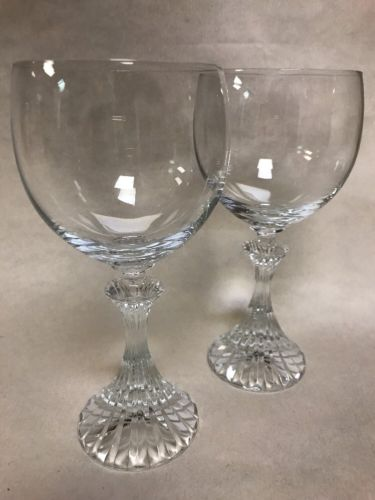 Mikasa The Ritz Crystal Wine Glasses Set of 2 Vintage Water Goblets