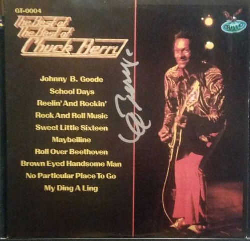 Chuck Berry in person autographed lp Blue Berry Hill St. Louis, MO