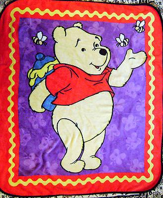 Disney Baby Kids Winnie The Pooh Bee Butterfly Plush Blanket Throw 52