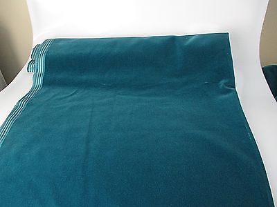 Vintage Velvet Fabric Remnant Germany Cotton 34 in W Teal